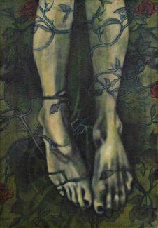 feet, 2008, oil on linen
